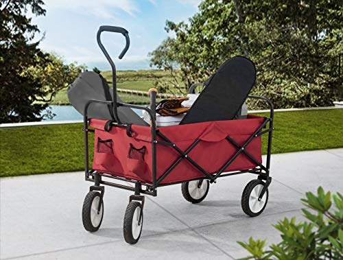 S2 Lifestyle Brazee Collapsible Folding Wagon Cart with Wheels