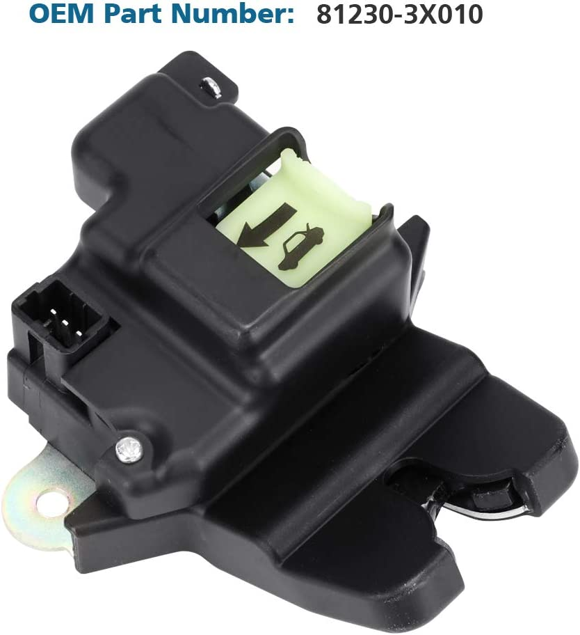 TTIHOT Tailgate Latch Lock Actuator Motor Tail Gate Trunk Latch For Hyundai Elantra Coupe 2.0L 1.8L Engine Years 2011 2012 2013 2014 2015 2016 Compatible with 81230-3X010 Rear Trunk Lid Central Latch