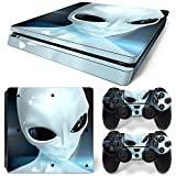 CSBC Skins Sony PS4 Slim Design Foils Faceplate Set - Alien Design
