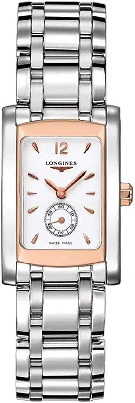 Longines Dolcevita Rose Gold and Steel Women's Watch L5.155.5.18.6