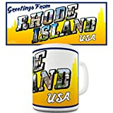 interesting kitchen island design ideas  Greetings From Rhode Island USA Ceramic Funny Mug