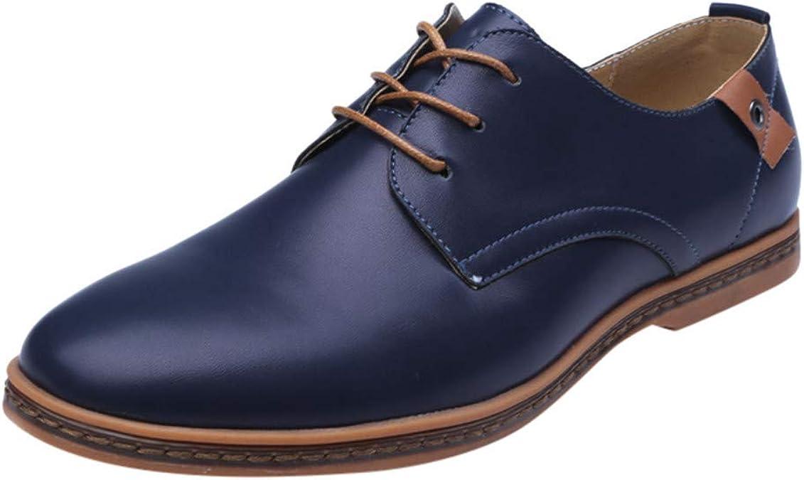 Zzzz IU001 - Zapatillas de Piel para Hombre, Azul (Azul), 45 EU ...