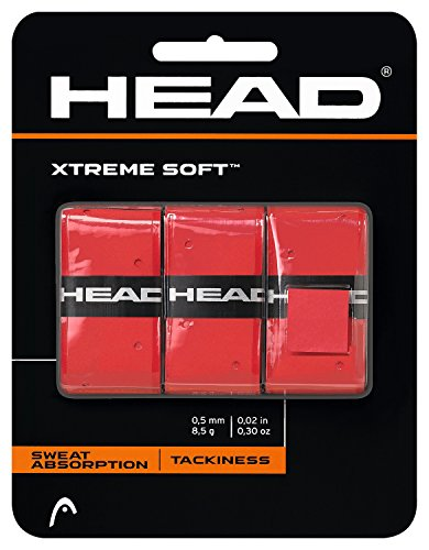 HEAD Xtreme Soft Overgrip (Red) (Racket Red Tennis)