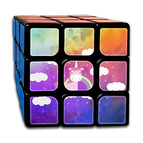 Lovely UNICORN With Rainbow 3 X 3 Cube Easy Turning And Smooth Play Magic Cube Puzzles Toys