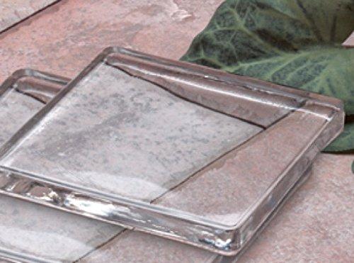 Amazon.com Biedermann u0026 Sons Square Glass Candle Plates (Box of 6) Small Home u0026 Kitchen & Amazon.com: Biedermann u0026 Sons Square Glass Candle Plates (Box of 6 ...