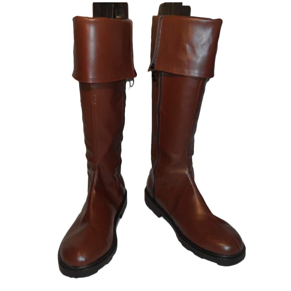 Hellsing Ultimate Alucard Boots Cosplay Brown PU Shoes Boots Props Halloween 45