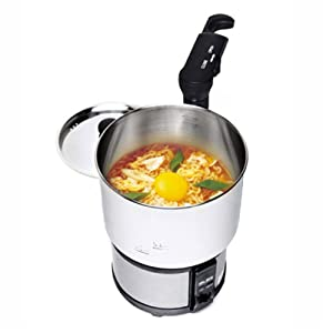 """BLES MC450, Portable Outdoor Camping Electric Cooker Hot Pot Teapot Stai, Electric Travel Cooker, Electric Hot Pot, 110V 220V Dual Voltage, 7.2"""" x 6.4"""" x 5.1"""""""