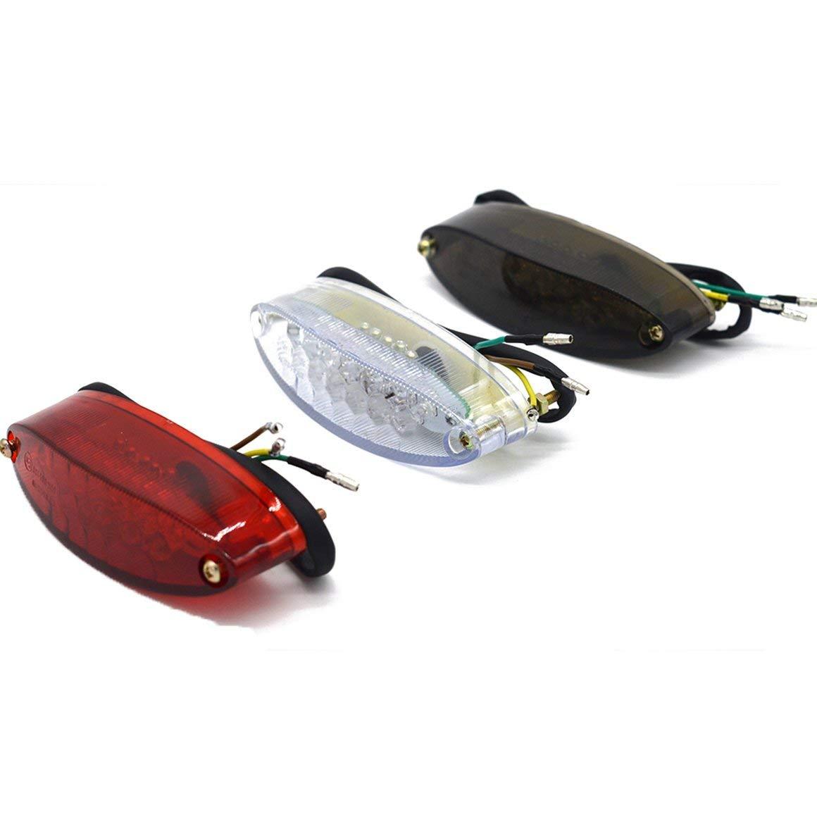 Funnyrunstore Universal Motorcycle LED Tail Light Indicador de Freno L/ámpara Moto trasera Accesorios Modificados Luz Decorativa rojo