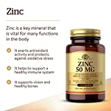 Solgar Zinc 50 mg, 100 Tablets - Zinc for Healthy