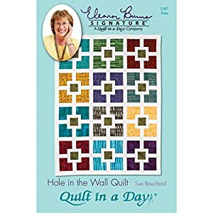 """Hole in the Wall Quilt Pattern by Sue Bouchard from Quilt in a Day 56"""" x 68"""""""
