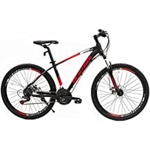 "Murtisol 27.5"" Mountain Bike 21 Speed Bicycle Shimano Derailleur Disc Brake Steel Frame in 3 color"