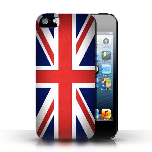 Etui / Coque pour Apple iPhone 5/5S / Royaume-Uni/Britannique conception / Collection de Drapeau