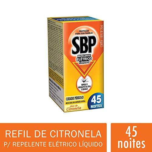 Repelente Elétrico Liquido 45 Noites Refil Citronela, Sbp