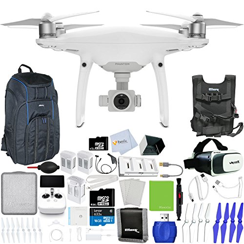 DJI-Phantom-4-Pro-Quadcopter-Xtreme-VR-Vue-II-For-iPhoneAndroid-Screen-Size-35-6-2-Intelligent-Flight-Battery-5350mAh-Backpack-Pro-II-Multi-Charger-Hub-More