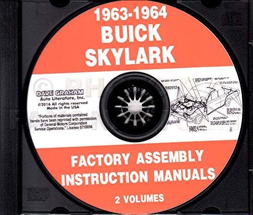(1963 & 1964 BUICK SKYLARK, SPECIAL & SPORTWAGON FACTORY PARTS ASSEMBLY INSTRUCTION MANUAL On CD )
