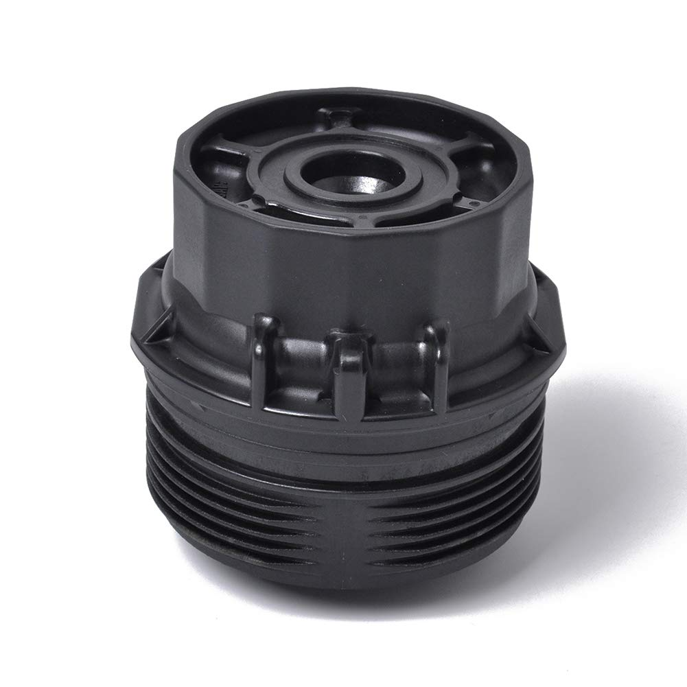 BEESCLOVER Oil Filter Cap for Toyota Corolla High Performance Filter Cover OE 15620-37010 Black A1252