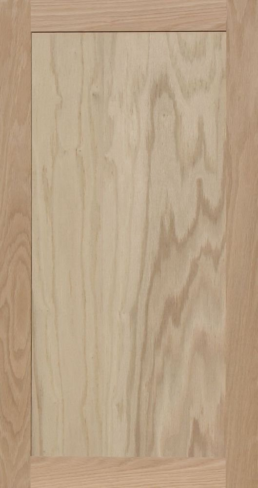 Unfinished Oak Square Flat Panel Cabinet Door by Kendor 34H x 18W