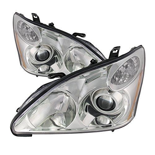 HEADLIGHTSDEPOT Compatible with Lexus RX330 (Japan Built) New HID-Type Headlights Set Headlamps Pair ()