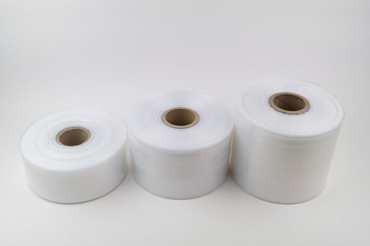 transparent und scannerlesbar 100my stark LDPE Schlauchfolie 800mm breit lebensmittelechte Beutelfolie auf Rolle 125m Laufl/änge