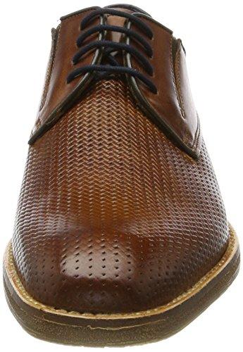 Bugatti Herren 312417011100 Derbys Braun (Cognac)