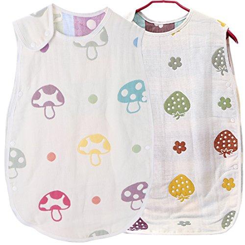 Amazon.com: KF Baby Muslin Sleep Bag Wearable Blanket, Set of 2 [Small]: Baby