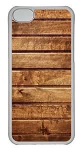 iPhone 5C Case Cover - Textures Tree Board Custom Design PC Case for Apple iPhone 5C - Transparent