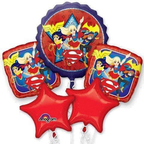 DC Super Hero Girls Birthday Balloon Bouquet -