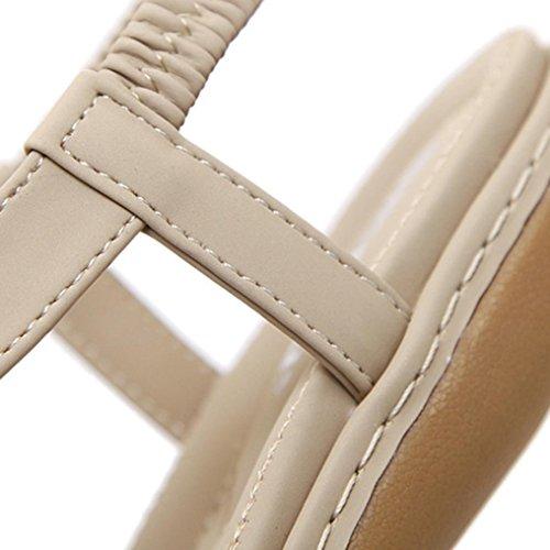 Open 41 Estate Scarpe EU Pantofole Moda Comfort Antiscivolo Sandali Eleganti Donne Classico Toe Infradito Pantofole Cachi Casuale Spiaggia Leggero Sqpaavfxw