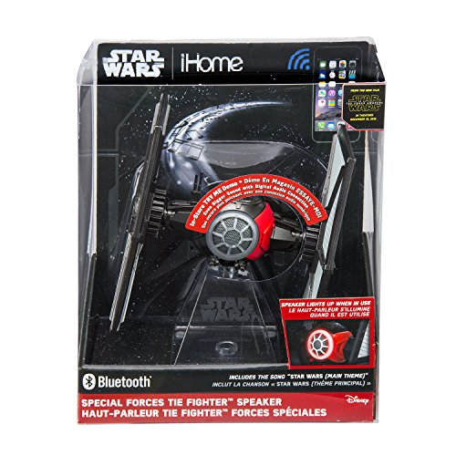 092298924700 - Star Wars Bluetooth Speaker - The Force Awakens First Order Tie fighter Villain Starfighter Lights Up When In Use carousel main 1