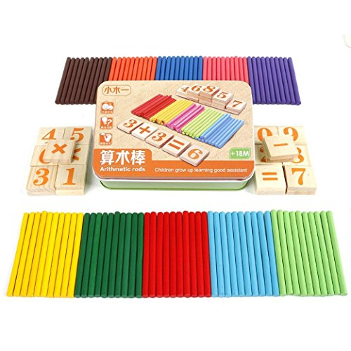 Kids Child Wooden Early Learning Mathematics Numbers Counting Educational Toy➪Laimeng