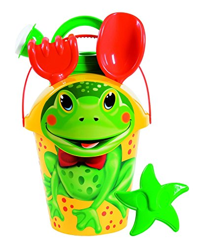 Androni Beach Pail and Sand Toy Set, Frog (6-Piece) ()