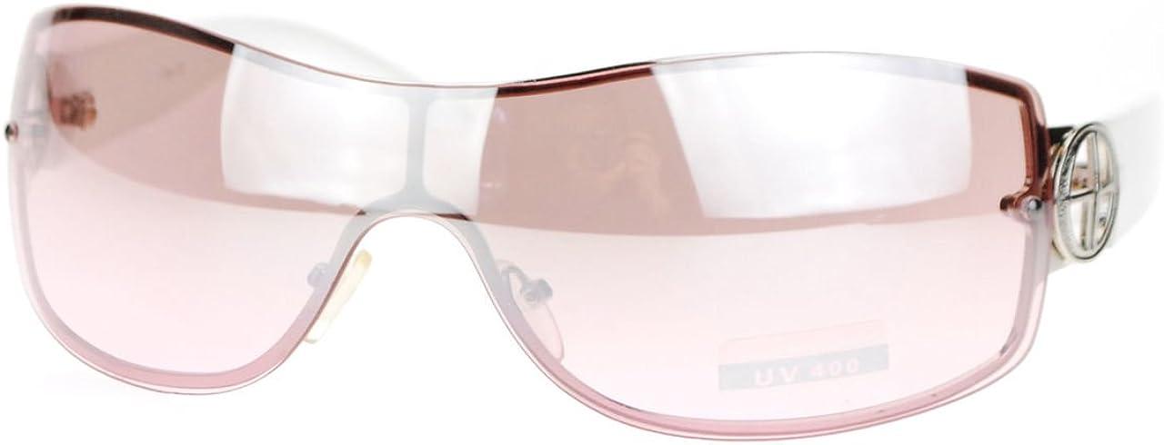 Rimless Shield Warp Sunglasses