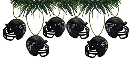 Atlanta Falcons Football Helmet Ornaments Set Of 6 Nfl Football Snowman Ornament