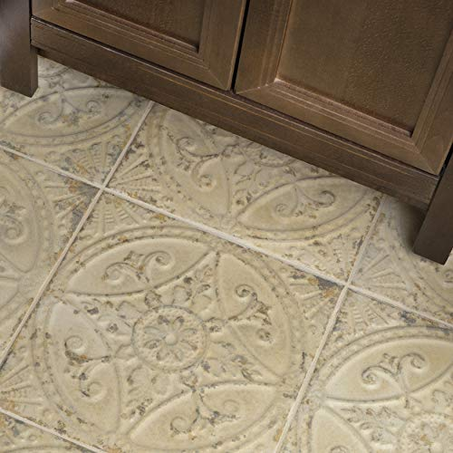 SomerTile FPESAJB Murcia Ceramic Floor and Wall Tile, 13'' x 13'', Blanco by SOMERTILE (Image #9)