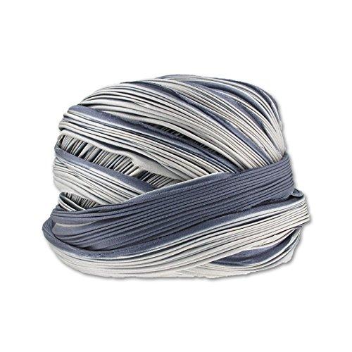 Perles & Co Nastro di seta Shibori Cool Ash x10cm