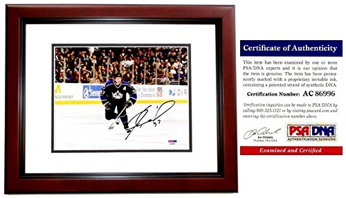 - Jeremy Roenick Autographed Signed Los Angeles Kings 8x10 Photo Mahogany Custom Frame- 513 Goals - 703 Assists - PSA/DNA Authentic