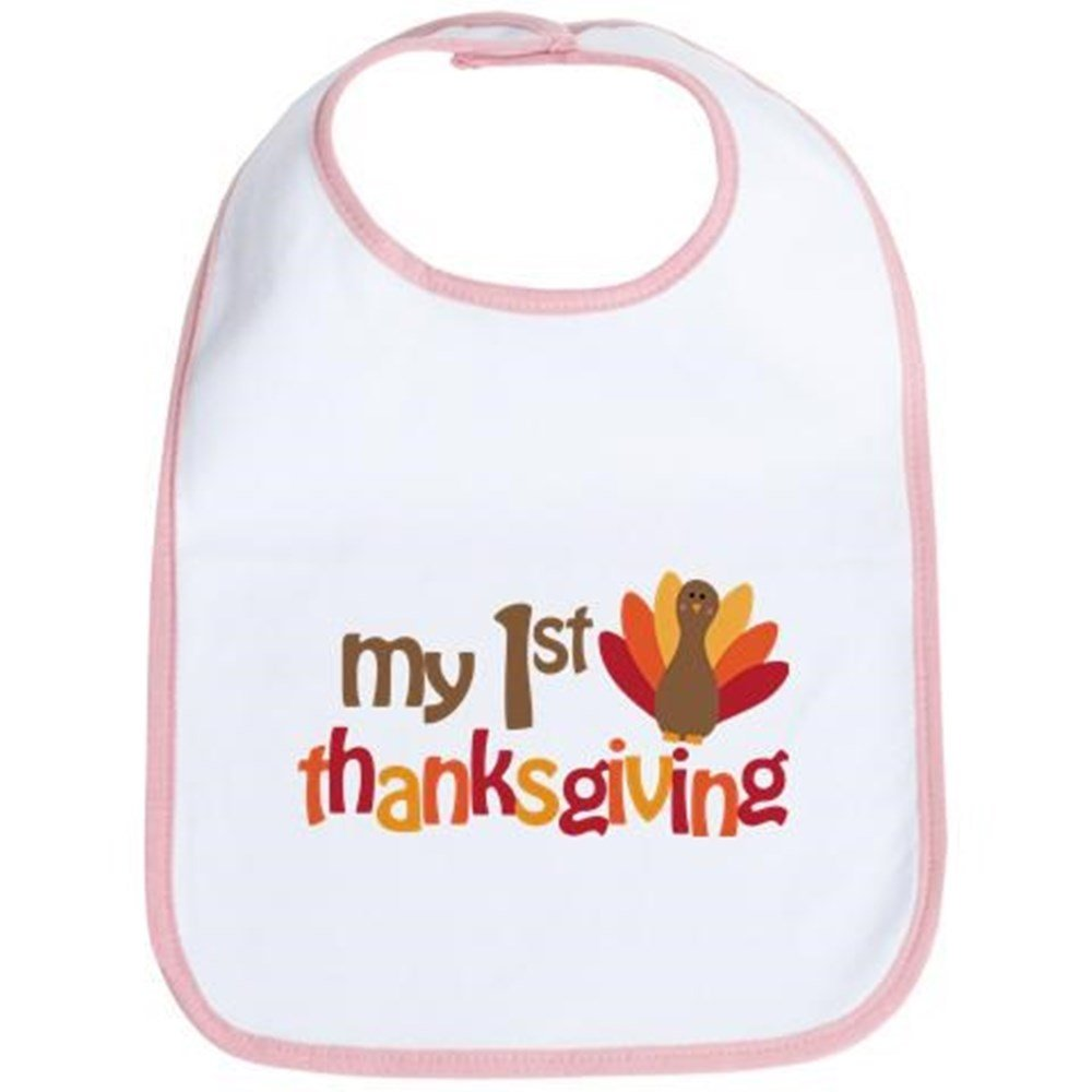 CafePress - My 1St Thanksgiving Bib - Cute Cloth Baby Bib, Toddler Bib
