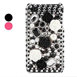 NEW Rhinestone Floret Pattern Case for iPhone 4 and 4S (Assorted Colors) , Pink