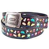 Pop Art Products Men's Pixel Character Space Invaders Pac Man Super Mario Bros Belt One Size Black