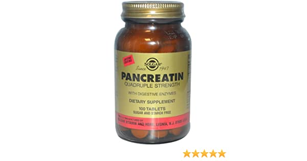 Amazon.com: Solgar Pancreatin Quadruple Strength -- 100 Tablets: Health & Personal Care