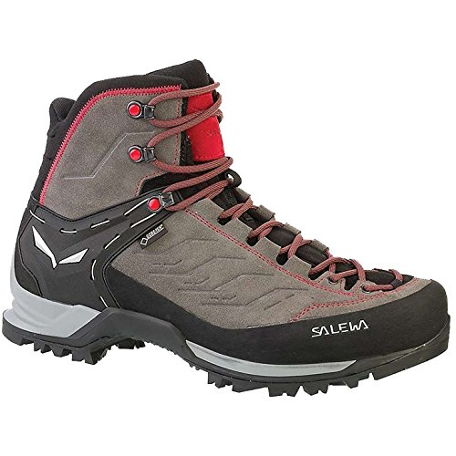 Summit Mountain Boot - Salewa Men's Mountain Trainer Mid GTX Boots Charcoal/Papavero 10