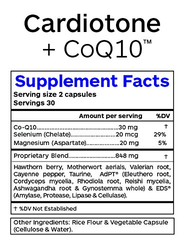Professional Botanicals Cardiotone CoQ10 - Vegan Formulated Coenzyme Q10 with Hawthorne Berry Valerian Root and Cayenne Pepper - Herbal Heart Health Support - 60 vegetarian capsules by Professional Botanicals (Image #2)