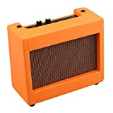 Mxfans DC9V 5W Plastic Guitar Amplifier Speaker Volume Tone Control Orange