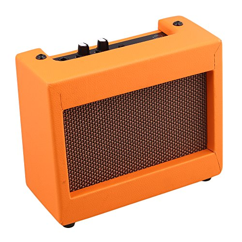 Mxfans DC9V 5W Plastic Guitar Amplifier Speaker Volume Tone Control Orange by Mxfans