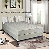 Continental Mattress 9-inch Fully Assembled Gentle Firm Orthopedic Back Support Queen Mattress Box Spring Bed Frame,Hollywood Collection