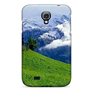 Snap-on Case Designed For Galaxy S4- Green Over Clouds