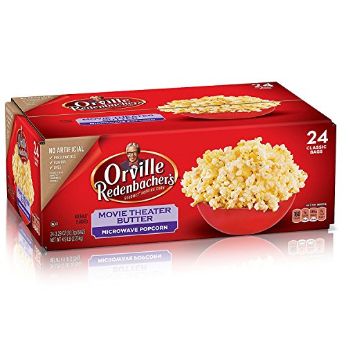 Orville Redenbachers Movie Theater Butter Microwave Popcorn  3 29 Ounce Classic Bag  24 Count
