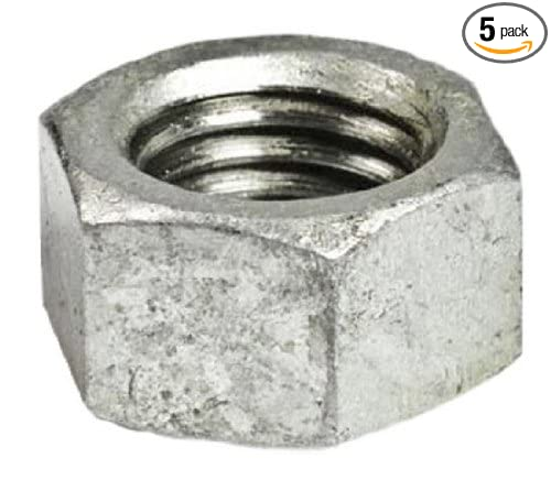 Plumbers Choice 93858 1//2-Inch Nut for Dresser Coupling Bolt 5-Pack