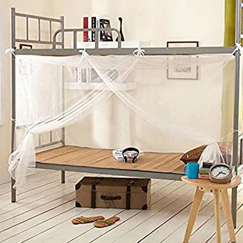 Xinhuaya Student Bunk Bed Bed Canopy Single Twin Queen King Bed Net Mosquito Netting & Amazon.com: Xinhuaya Student Bunk Bed Bed Canopy Single Twin ...