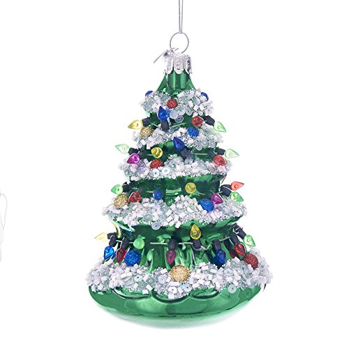 (Kurt Adler Kurt S. Adler Noble Gems Christmas Tree Glass Ornament)